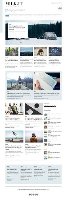 Milk-It - Creative WordPress blog/magazine theme #blogtheme #wordpress Live Preview and Download: http://ksioks.com/portfolio/milk-it-creative-wordpress-blogmagazine-theme/