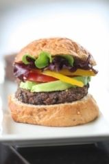 Vegan Black Bean Burgers. I was sceptical but these are one of my favorite all time foods! Very easy to make too.