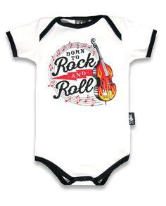 Six Bunnies Baby BORN TO ROCK AND ROLL Strampler.Tattoo,Biker,Rockabily Style