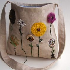 organic kids messenger bag / hope in the autumn eco by SewnNatural