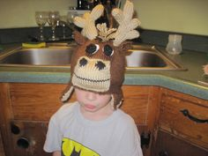 My knitted moose hat