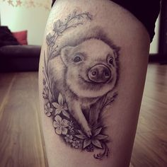 Sweet black and grey tattoo by Nia Panic.