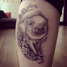 Sweet black and grey tattoo by Nia Panic.