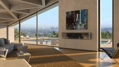 A villa in the Hollywood Hills with a view of Downtown LA. Some Beautiful Pictures, Earthship, Hollywood Hills, Balcony Garden, Background S, Beautiful World, Home Interior Design, Garden Design, Trends