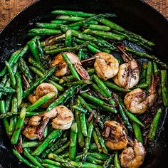 vietnamese asparagus & shrimp stir-fry