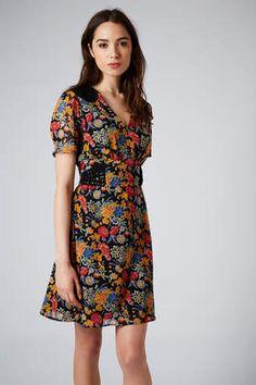 Floral Print Cornelli Tea Dress