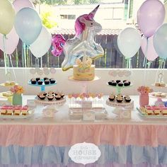 """Essentials of a party - balloons and Mosser glass stands!  ・・・ Repost @littlehouseofdreams """"Keeping it sweet and simple. Rainbow unicorn dessert table. * * #littlehouseofdreams #bespoke #bespokecakes #handmade #dessert #desserttable #bespokedesserttable #party #partyplanning #handmade #rainbowunicorn #unicorn"""""""