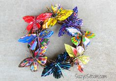 Recycled Paper Butterfly Wreath and a $1000 Gift Card Giveaway!