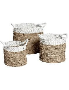 basket raffia white nature geflochtener bastkorb in wei natur s bastkorb k rbe pinterest. Black Bedroom Furniture Sets. Home Design Ideas