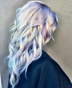 Gorgeous gray/mermaid hair!