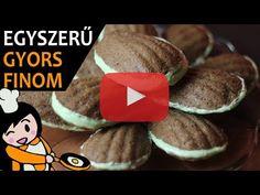 Egyszerű mandulás kagyló süti recept elkészítése videóval. A mandulás kagyló süti elkészítését, részletes menetét leírás is segíti. Cookies, Make It Yourself, Recipes, Food, Youtube, Bakken, Essen, Crack Crackers, Biscuits