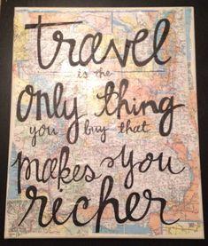 So true! Travel quote canvas, Kalligraphy Designs
