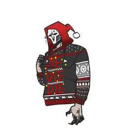 "vvvolfie: ""Reaper's ugly sweater "" Overwatch Comic, Overwatch Reaper, Overwatch Memes, Video Game Addiction, Different Art Styles, Widowmaker, Kaneki, Undertale Au, Pretty And Cute"