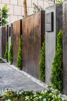 Gallery of Character Café & Gallery / OJAN Design Studio - 16 Fence Wall Design, Gate Design, Facade Design, Exterior Design, Architecture Design, House Design, Design Studio, Modern Fence Design, Sustainable Architecture
