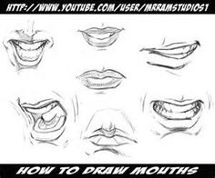 how to draw male lips