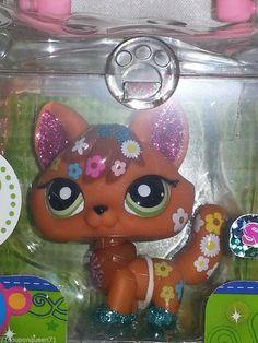 Littlest Pet Shop Shimmer N Shine 2341 Glitter Sparkle Fox LPS New
