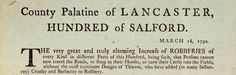 This is a notice calling a meeting in Salford in 1790 to deal with the rise in crime.