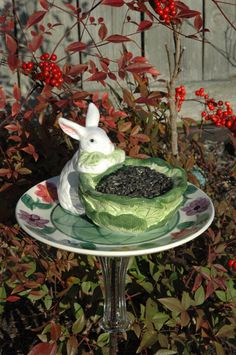 Whimsical Ceramic Yard Art