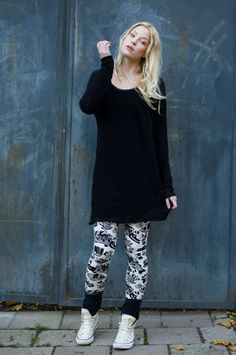 leggins from Punainen Norsu Shirt Dress, T Shirt, Organic Cotton, Normcore, My Style, Sweaters, Dresses, Fashion, Supreme T Shirt