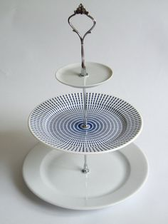 cake stand 3 tier blue and white elegant gift by myamsterdam, €30.00