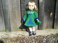 Irish dance costume for American Girl doll available to order