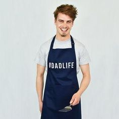 #Dadlife Men's Apron - This Father's Day, treat Dad to something he really wants — everlasting memories with you. Whether the outcome's beautiful cakes, moreish bakes or wonderfully wonky pies, you're guaranteed a day of baking fun both you and Dad will never forget.