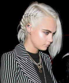 25 Easy Summer Hairstyles to Wear Now  - Cara Delevingne's Single Braid  from InStyle.com