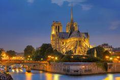 paris in night | Los mejores quince Destinos de viaje. » Notre Dame de Paris at night
