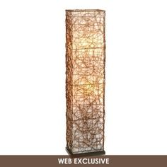 Wired Wicker Floor Lamp $63.99