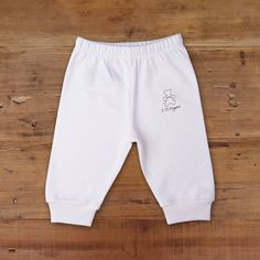 Made from skin-friendly organic cotton Comfortable clothing, no irritating tags or seams Also available in pink, blue and white colour For babies in sizes: months Organic Baby, Organic Cotton, Baby Pants, Natural Baby, Baby Outfits Newborn, Baby Essentials, Comfortable Outfits, Blue And White, Clothes