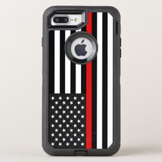 Thin Red Line American Flag OtterBox Defender iPhone 8 Plus/7 Plus Case  firefighter tshirt, diy firefighter, firefighter decor ideas #militarydad #firedepartment #companyofficer, 4th of july party Firefighter Humor, American Flag, Apple Logo, Fort Collins, Protective Cases, Iphone 8 Plus, Iphone Case, Apple Iphone