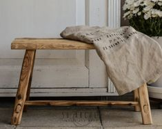 handmade wooden benchspruce barn woodentryway dining by Raw Wood Furniture, Dining Room Furniture, Wooden Bench Table, Bohemian Decoration, Contemporary Home Decor, Shop Interiors, Tropical Decor, Recycled Wood, Old Wood