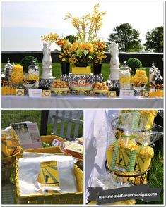 Gold-Cup-Candy-Dessert-Bar-Kentucky-Derby-Party-Inspiration-Yellow-Black