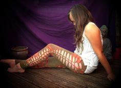 Tie Dye | Braided | Leggings | Size 10 | SOLD! Ballet Shoes, Dance Shoes, Pixie, Braids, Tie Dye, Size 10, Leggings, Crafty, Style
