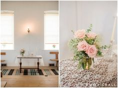 Amana Festhalle barn wedding, late summer wedding, blush pink & gold wedding colors, ceremony decor