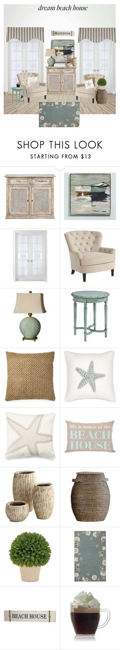 """beach house"" by flovie ❤ liked on Polyvore featuring interior, interiors, interior design, home, home decor, interior decorating, Ballard Designs, Liz Claiborne, Pier 1 Imports and Uttermost"