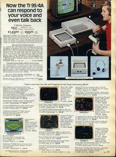 1983 Sears Christmas catalog - Texas Instruments computer