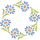 """Nothing says """"spring is here"""" like Stencils for Walls' Gerber Daisy Wreath Stencil. Cheap, easy to use and very effective. Stencilling is a versatile and exciting way to accessorize on any flat surface of your choice. Our stencils produce high quality designs with minimum fuss."""
