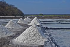 Mounds of pure, raw sea salt, Colima, Mexico. Let's rim a margarita glass.