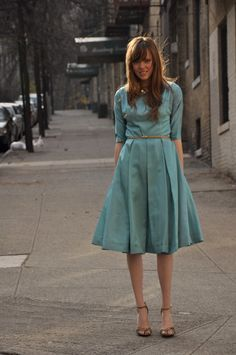 vintage teal dress.