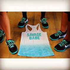 """""""HEY YOU SAVAGE BABE! Who's ROCKIN  the TEAL #metcon kicks!  TAG THOSE BABES! #savagebabe #savagebarbell #savageswim #girlsofcrossfit #chickswholift #nextlevel #barbellbabes #stance #stronggirls #fitchicks #swolemate #oly"""" Photo taken by @savage_barbell on Instagram, pinned via the InstaPin iOS App! http://www.instapinapp.com (08/17/2015)"""