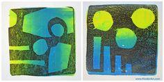 Gelli Arts Monoprinting: Printmaking Lessons for Kids: KinderArt Primary School Art, High School Art, Middle School Art, Secondary School, Art Lessons Elementary, Lessons For Kids, Sculpture Lessons, Cardboard Sculpture, Gelli Plate Printing