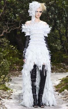 Chanel Haute Couture Spring 2013. Red would be better....maybe I could use as inspiration for costume.