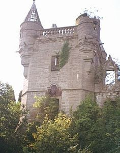 Buchanan Castle with Coat of Arms, stirlingshire, Scotland Buchanan Castle, Clan Buchanan, Scotland Castles, Scottish Castles, Castle Ruins, Medieval Castle, Abandoned Castles, Abandoned Places, Scotland History