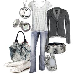 silvers, created by lagu on Polyvore