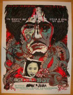 2010 Oldboy - Korean Variant Movie Poster by Rhys Cooper