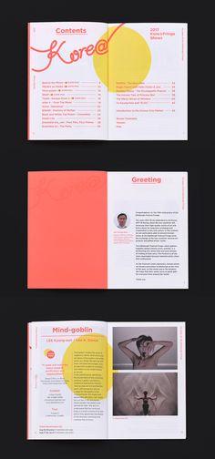 코리아 프린지 브로슈어 2017 | 슬로워크 Magazine Layout Design, Book Design Layout, Print Layout, Page Design, Magazine Layouts, Design Design, Editorial Design, Editorial Layout, Template Brochure