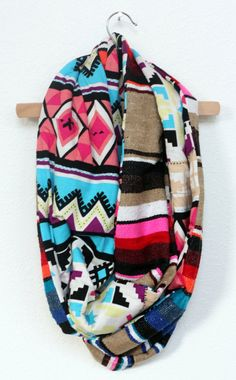 Tan Mexican Serape and Brightly Colored Aztec Lining by JustDawnelle