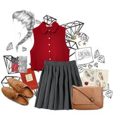 The Artist, in school by youronekhaleesi on Polyvore featuring мода, Chicnova Fashion, Ollio, CO, Social Anarchy, Smashbox, French Toast, women's clothing, women's fashion and women