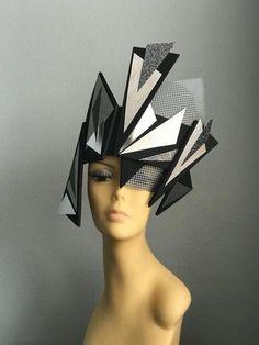 The Visionary avant garde head gear face plate set futuristic headdress helmet hat costume face robo Headdress, Headpiece, Body Adornment, Funny Tattoos, Art And Architecture, Futuristic Architecture, Vintage Boutique, Textiles, Headgear